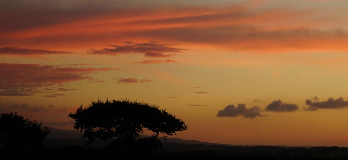 Sunset in North Tawton
