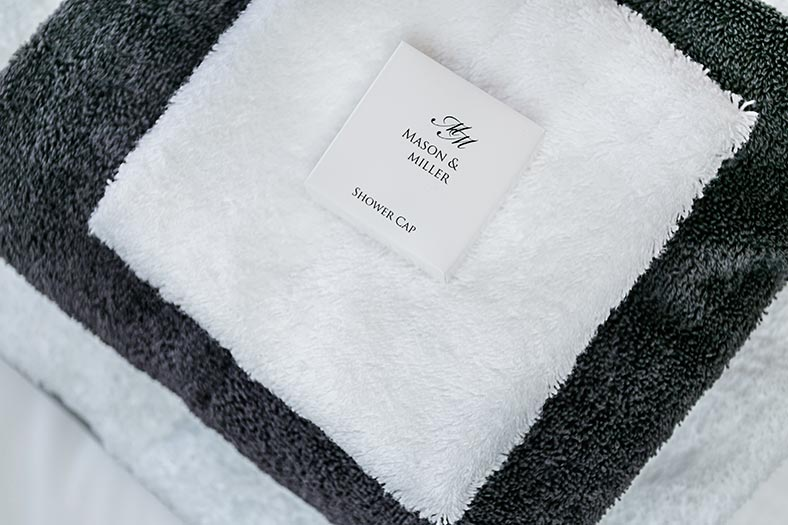 Towels in the bathroom of a Devonshire luxury holiday cottage